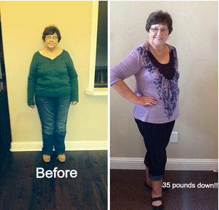 Cherly Young Down 35 pounds